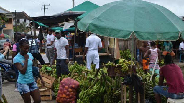 The market in Quibdo
