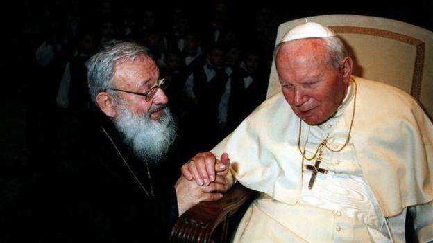 Любомир Гузар і папа Іван-Павло ІІ