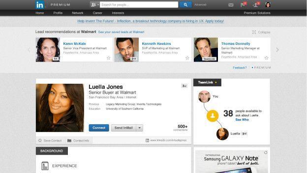 Perfiles en LinkedIn