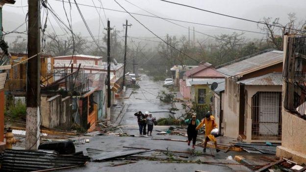 Puerto Rico después del huracán María.