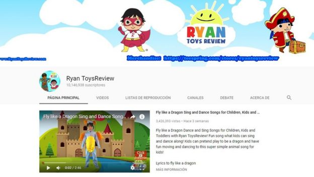 Image of the YouTube channel Ryan ToysReview