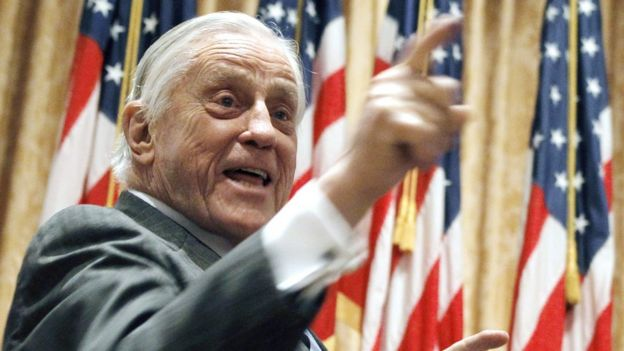 Ben Bradlee, editor of The Washington Post, in a 2011 image in California