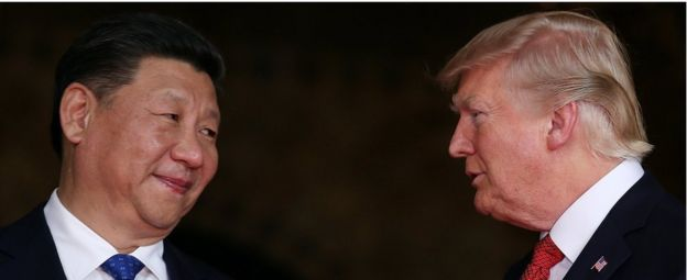 US President Donald Trump and Chinese President Xi Jinping at Mar-a-Lago in Palm Beach, Florida, USA, 6 April 2017.