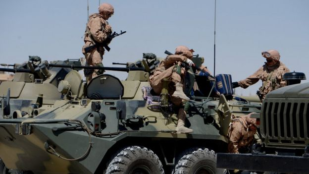 Truppe Russia in azione in Siria