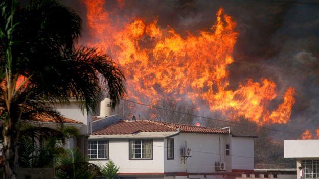 Incendio en Ensenada, Baja California, México