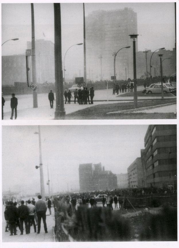 Fotografías de la Stasi muestran la multitud en el lado este de Berlín que quería llegar hasta el concierto de los Rolling Stones.