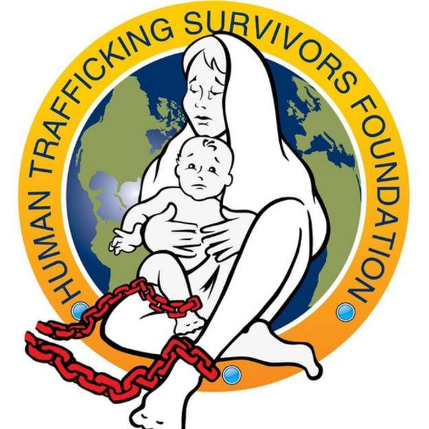 Cartaz da fundação de sobreviventes de tráfico humano