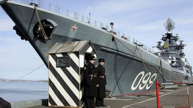 Un barco ruso