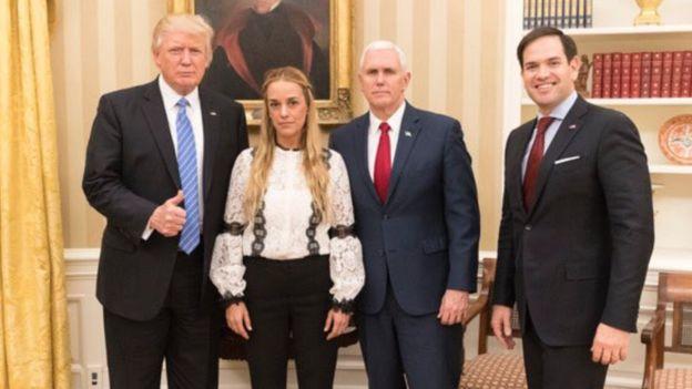 Lilian Tintori con Donald Trump