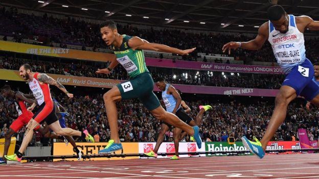 La final de los 200 metros planos de los mundiales de Londres de 2017.