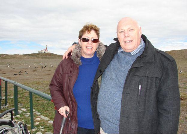 Graham y su esposa.