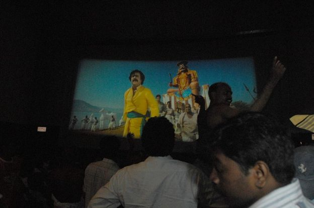 Rajinikanth film screening