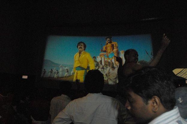Rajinikanth film screening