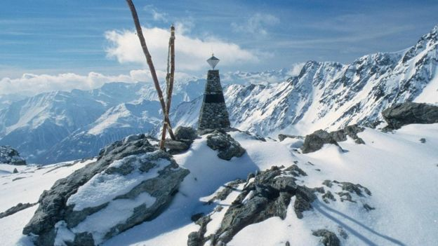 Montanha onde Ötzi, o homem do gelo, morreu