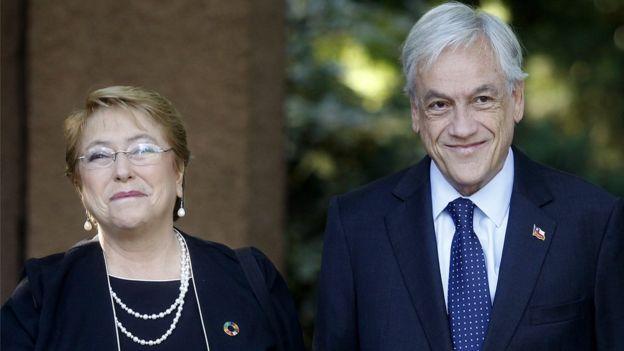 Michelle Bachelet y Sebastían Piñera