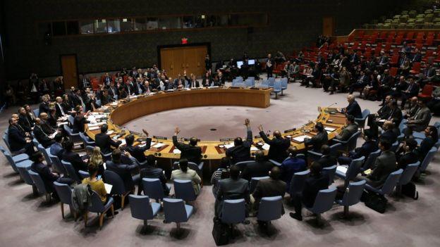 Reunión del Consejo de Seguridad de Naciones Unidas