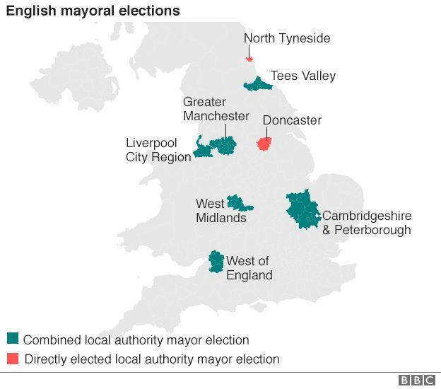 Election 2017 English mayoral candidates BBC News