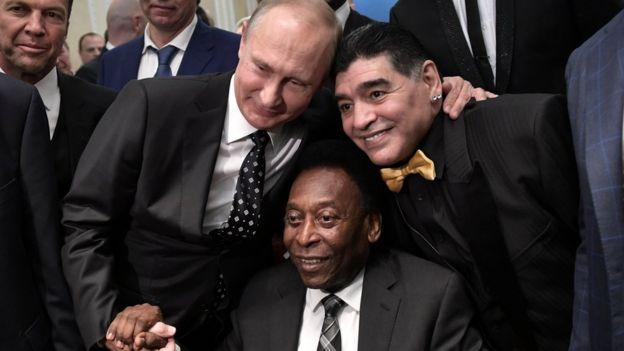 Pelé, Putin e Maradona