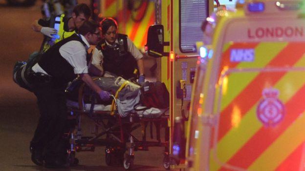 Herido en el ataque del puente de Londres.