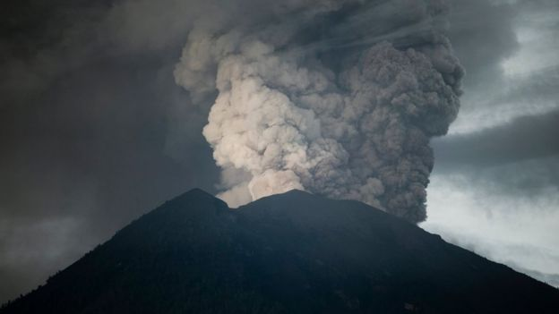 印度尼西亞巴厘島的阿貢火山