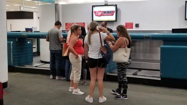 Mostrador de Santa Bárbara Airlines