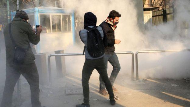 Protestos na Universidade de Teerã