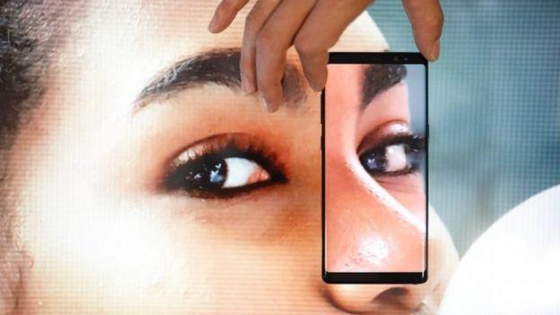 Una muestra del Galaxy Note 8 de Samsung