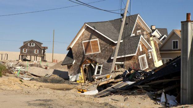 Daño provocado por un huracán