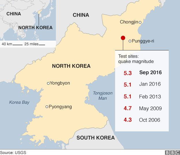North Korea Nuclear Test South Would Reduce Pyongyang To Ashes - North korea map