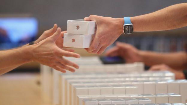 Compradores de iPhone