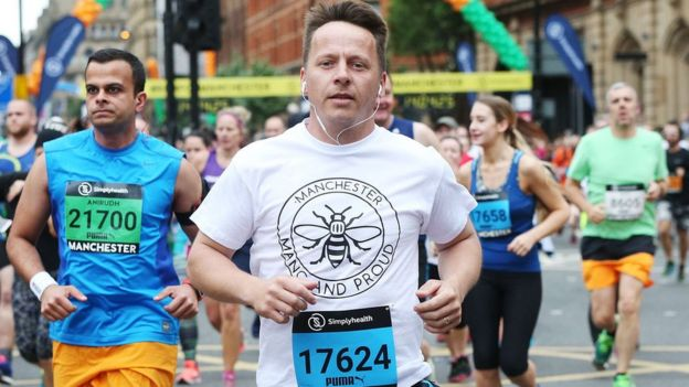 Runners take part in the Great Manchester Run