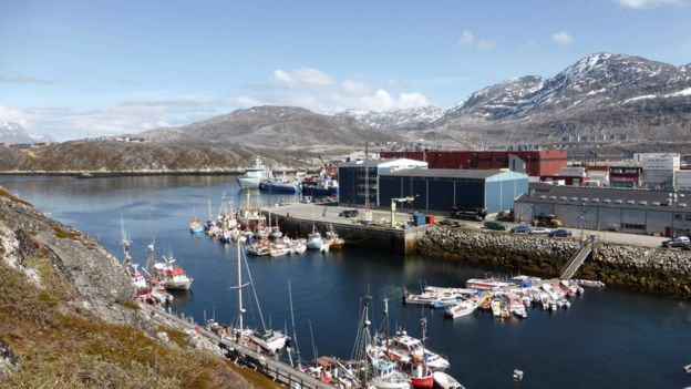 The port at Greenland's largest city, Nuuk