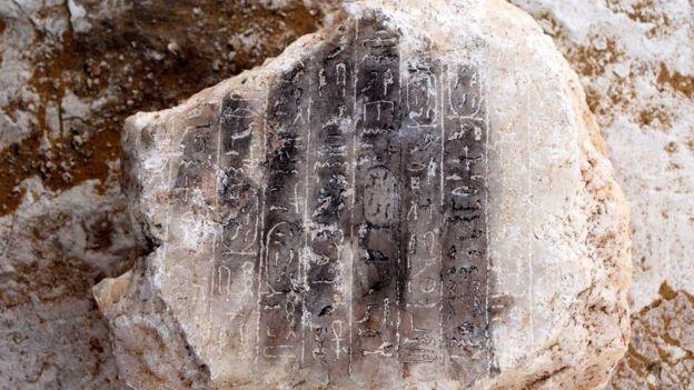 Estrutura egípicia encontrada