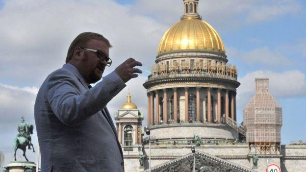 Vitaly Milonov en San Petersburgo.