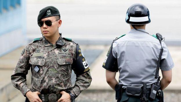 La frontera entre las dos Coreas
