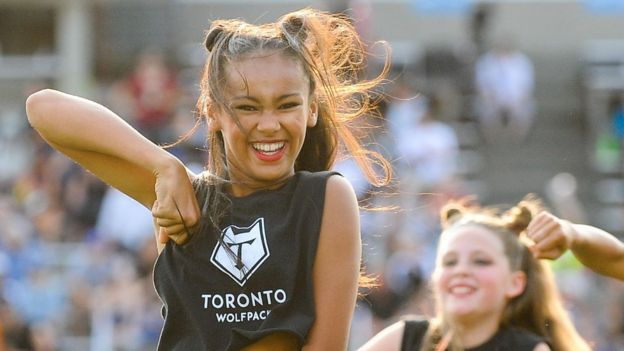 Toronto Wolfpack cheerleaders