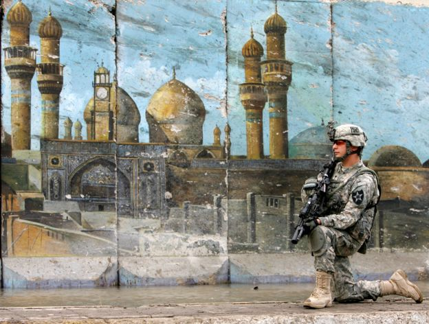 A US soldier in Baghdad.