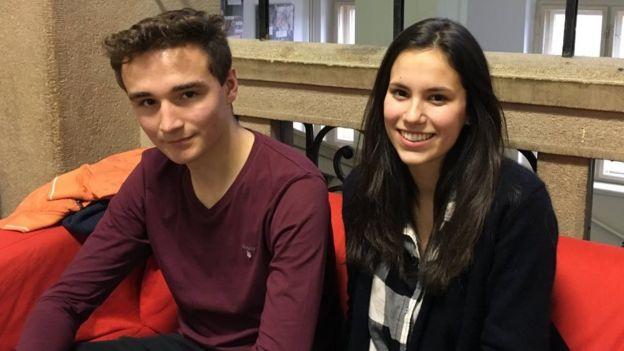 Klara and friend Jakub