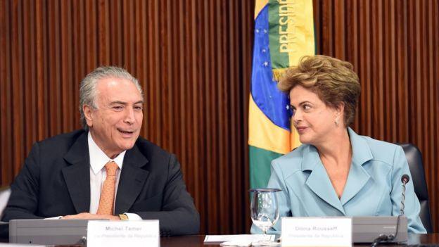 Michel Temer y Dilma Rousseff