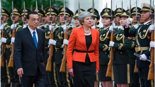 Prime Minister Theresa May and Chinese Premier Li Keqiang