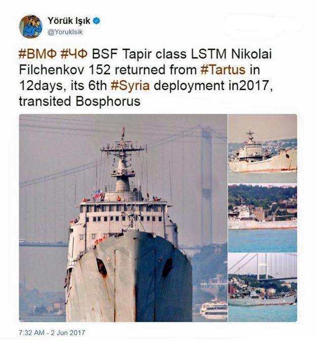 Suriye'den dönen Rus gemileri