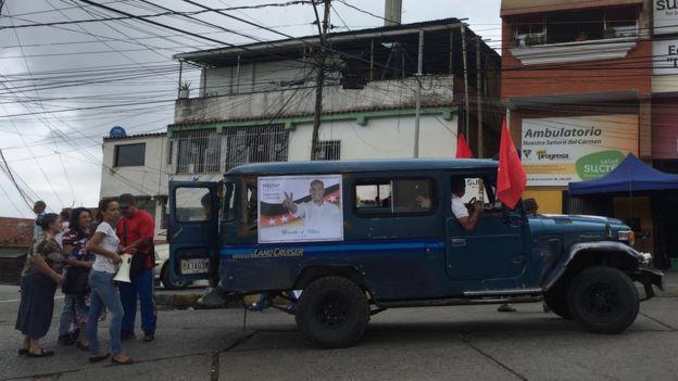 Un jeep en Petare.
