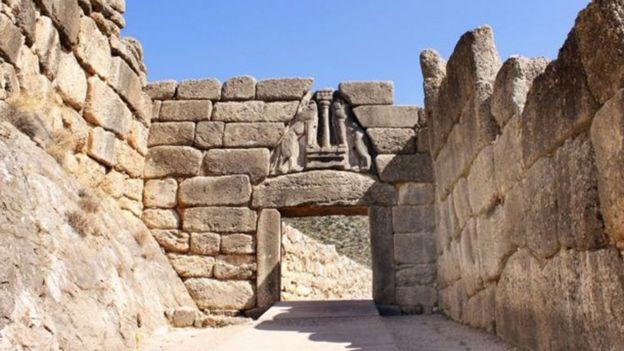 Puerta de los Leones en Micenas