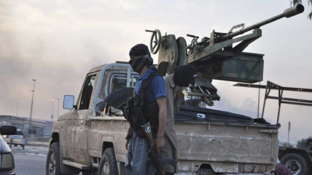IS militants in Mosul (2014).