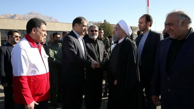 الرئيس روحاني توجه إلى منطقة الزلزال