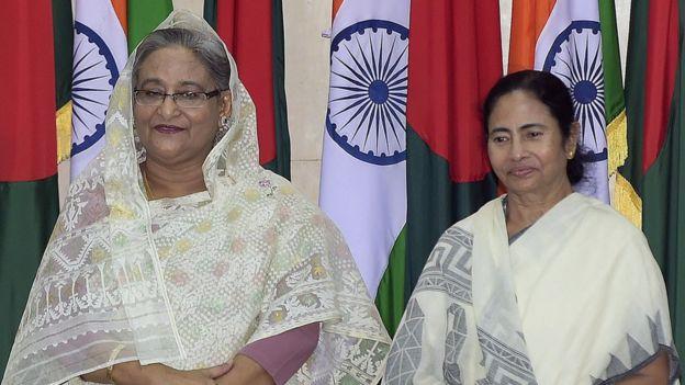 দিল্লিতে পাশাপাশি শেখ হাসিনা এবং মমতা ব্যানার্জি