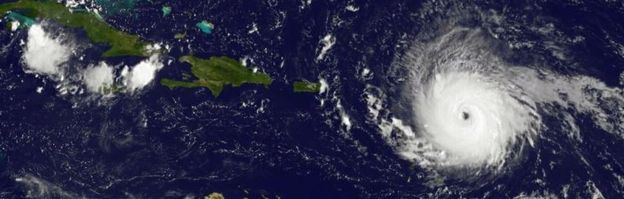 Ojo del huracán Irma