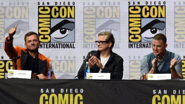 Taron Egerton, Colin Firth ve Channing Tatum