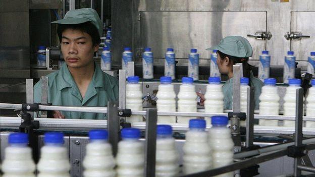 Una fábrica de leche pasteurizada