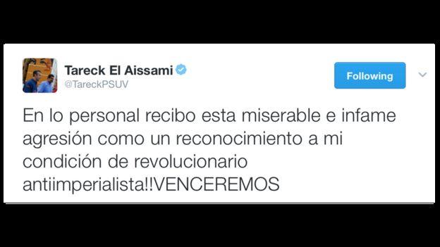 Tuit de Tareck El Aissami